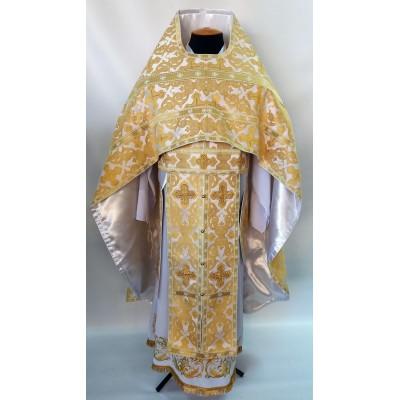 Иерейское облачение парча белое золото